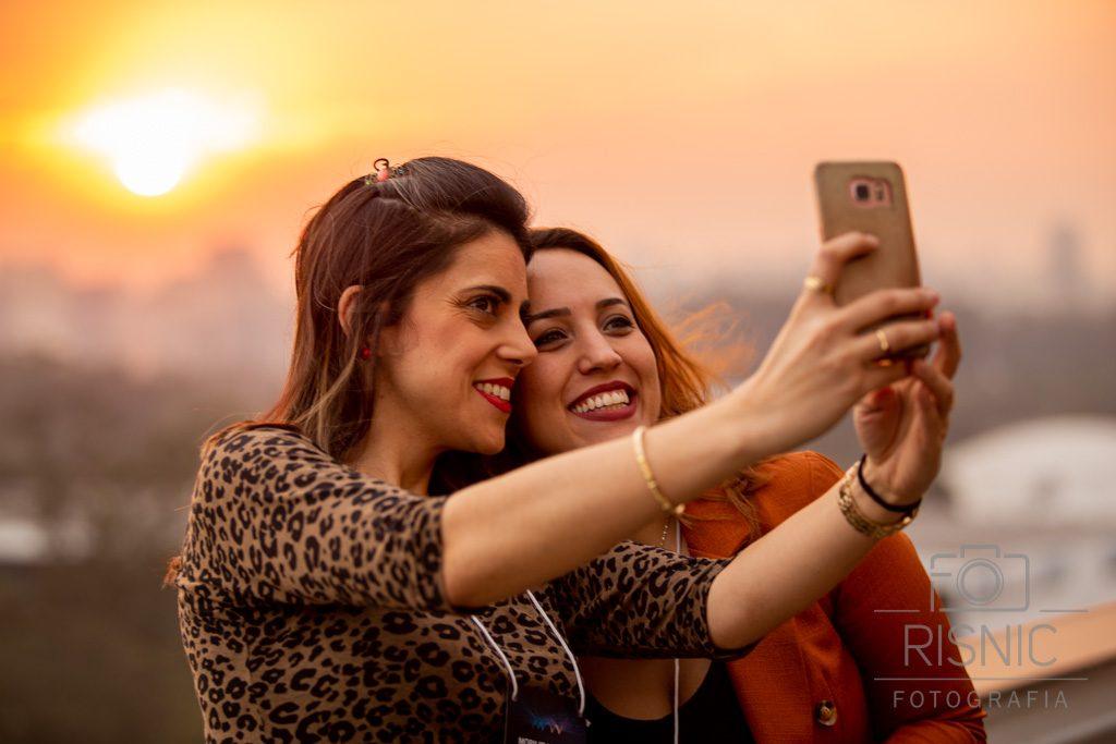Selfie clicada no Bar Obelisco