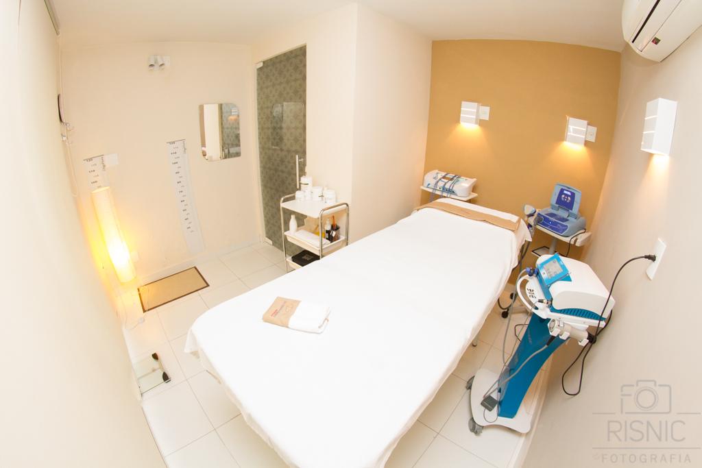 Ambientes Corporativos Clínica Estética Dra Débora Ribeiro. Nesta fotos temos outra sala de tratamentos da clínica