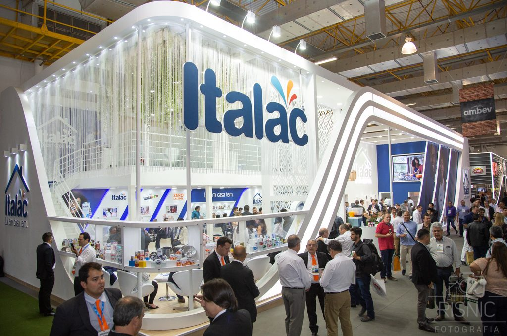 Foto do Stand da Italac na Feira APAS 2018, realizada no Expo Center Norte