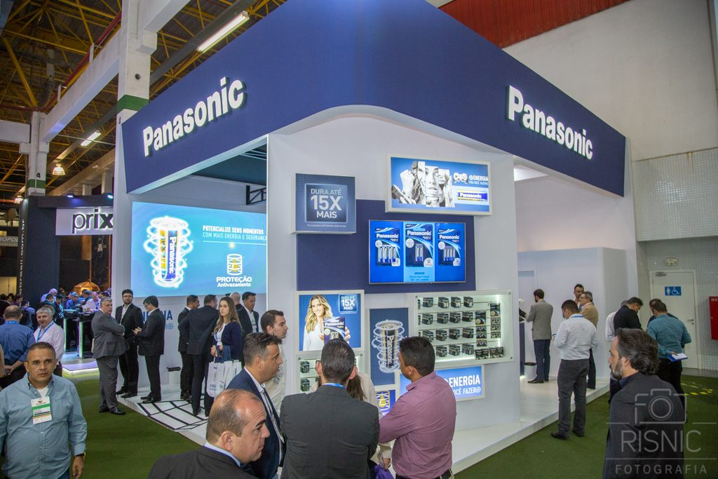 Foto do Stand da Panasonic na Feira APAS 2018, realizada no Expo Center Norte