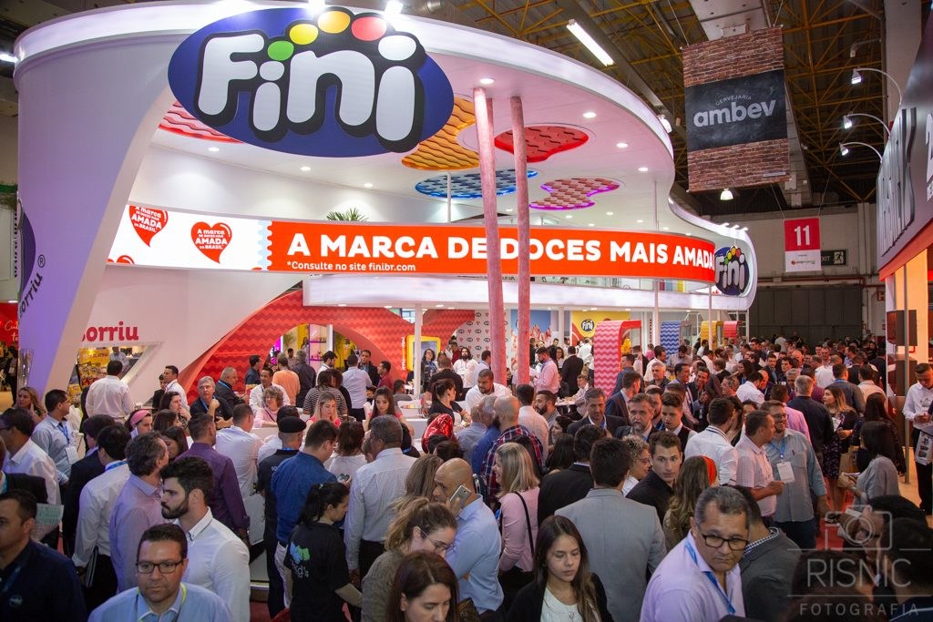 Foto do Stand da Fini Doces na Feira APAS 2018, realizada no Expo Center Norte