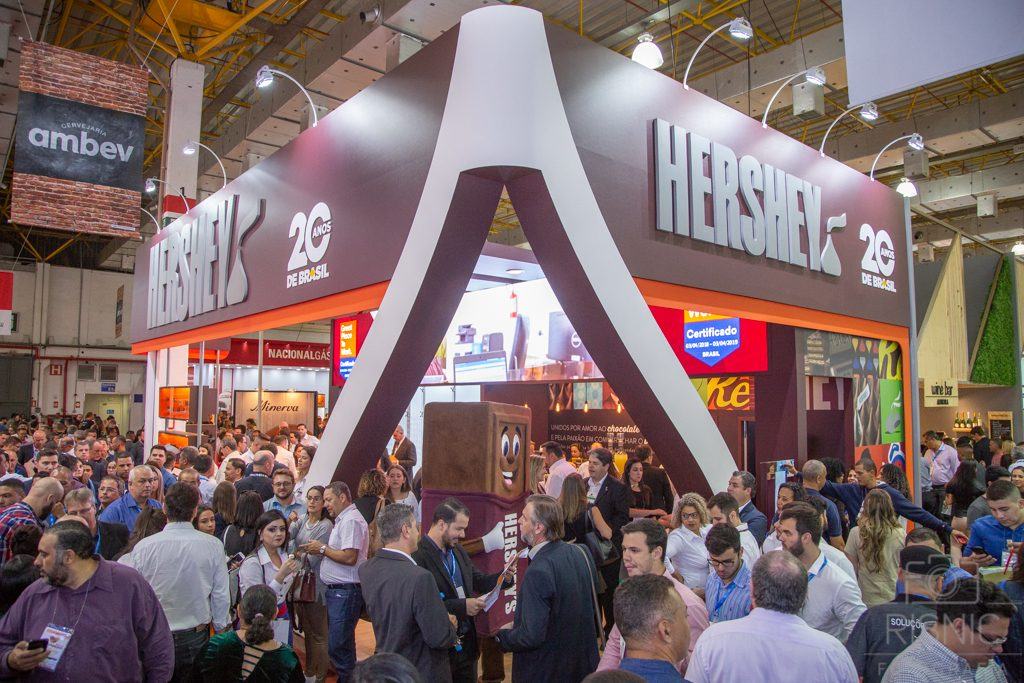 Foto do Stand da Hershey´s Chocolates na Feira APAS 2018, realizada no Expo Center Norte