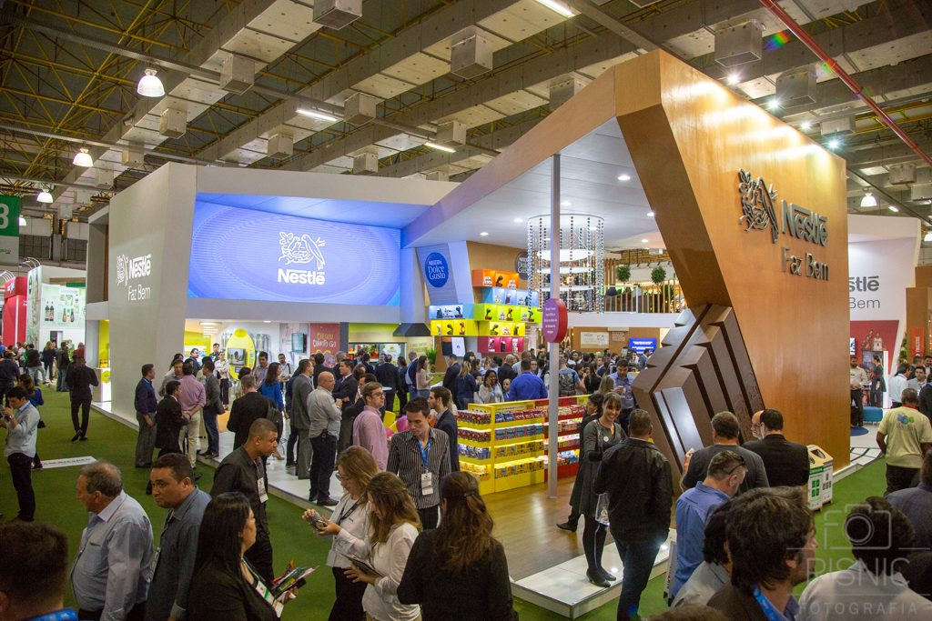 Foto do Stand da Nestlé na Feira APAS 2018, realizada no Expo Center Norte