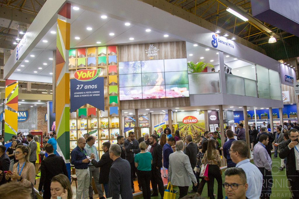 Foto do Stand da General Mills (em conjunto com Yoki) na Feira APAS 2018, realizada no Expo Center Norte