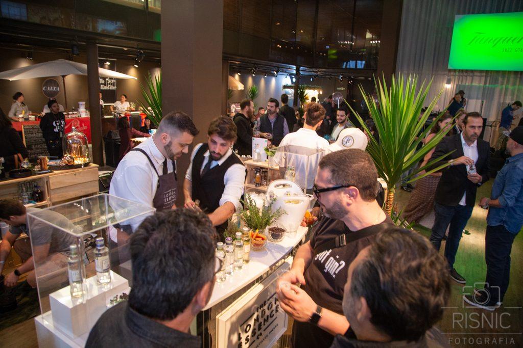 Stand da London Essence no Evento World Gin Day em São Paulo, realizada na Casa Bossa