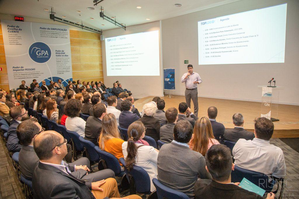 Marcelo Arantes, Diretor Executivo Supply Chain do Grupo Pão de Açúcar, no evento realizado pela empresa ACCERA para lançamento do TOPLOG