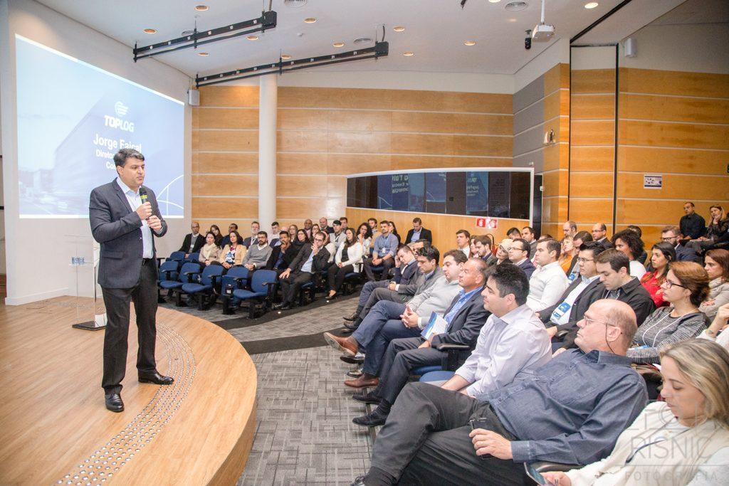 Jorge Faiçal, Diretor Executivo Comercial do Grupo Pão de Açúcar, no evento realizado pela empresa ACCERA para lançamento do TOPLOG