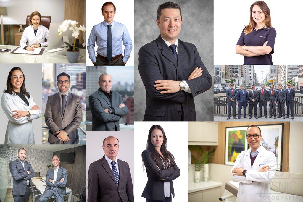 Esta foto é uma montagem de diversos retratos corporativos realizados pela Risnic Fotografia