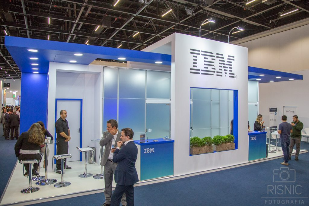 Nesta Fotografia Corporativa temos o Stand da IBM na Feira Futurecom, realizado no São Paulo Expo em Outubro de 2018