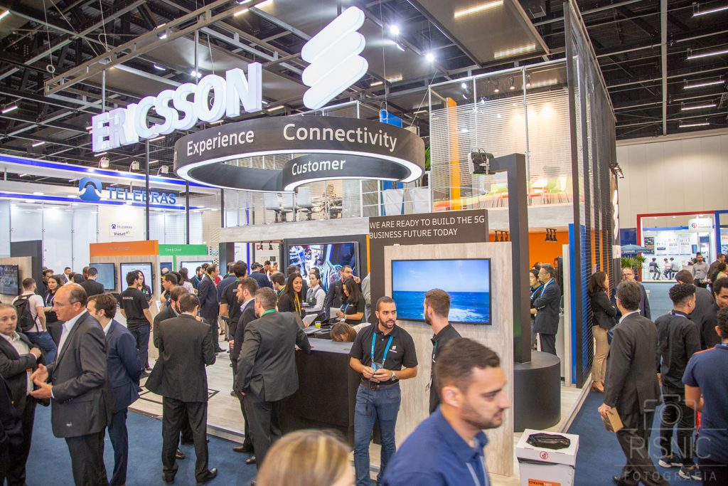 Nesta Fotografia Corporativa temos o Stand da Ericcson na Feira Futurecom, realizado no São Paulo Expo em Outubro de 2018