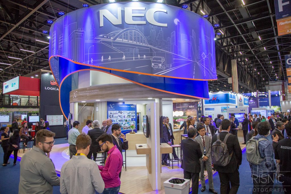 Nesta Fotografia Corporativa temos o Stand da NEC na Feira Futurecom