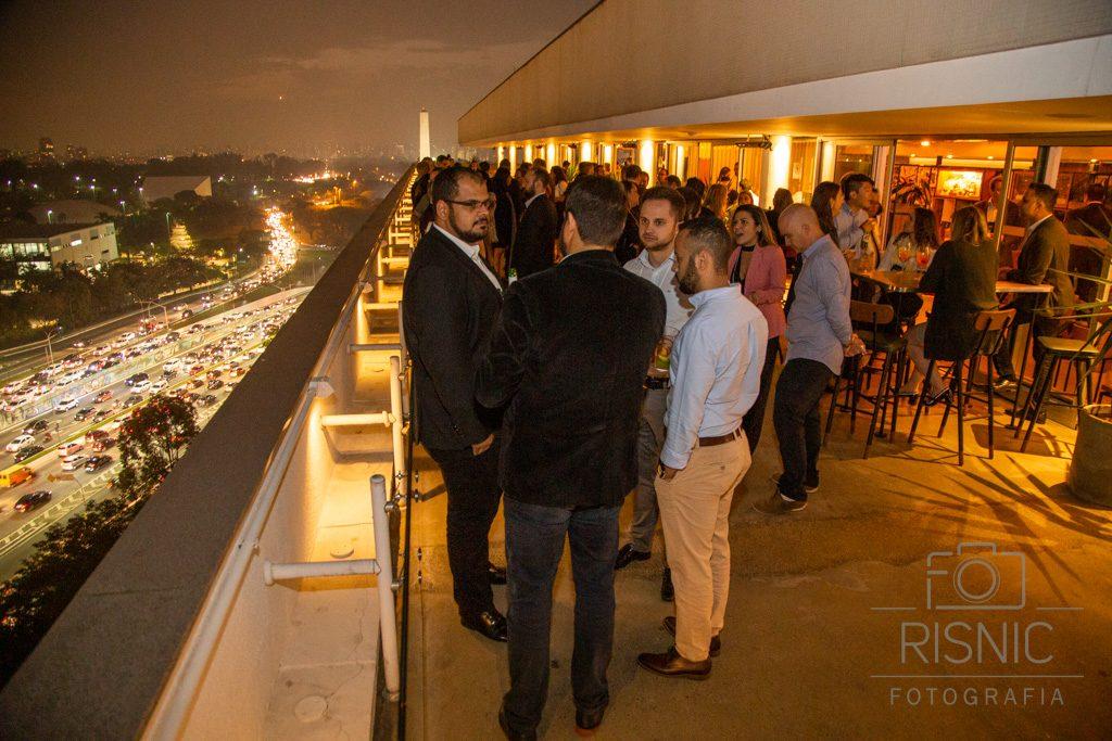 Evento Corporativo da ALD Automotive realizado no Bar Obelisco. Na foto temos a vista panorâmica de São Paulo
